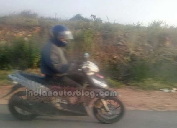 TVS Dazz step-thru spotted testing in India