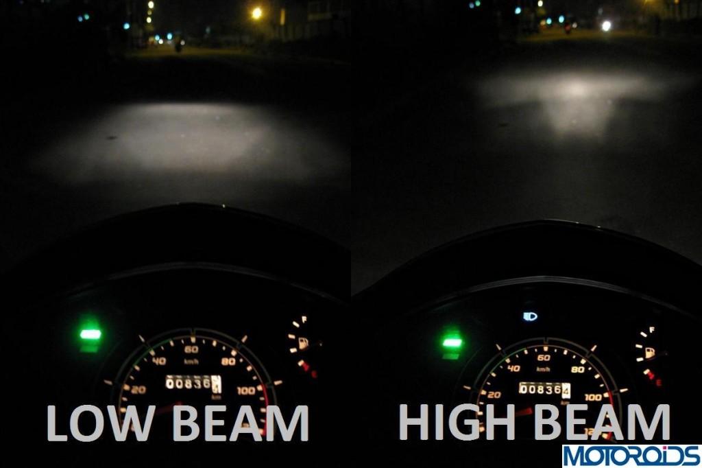 TVS Jupiter Review Headlight Beam