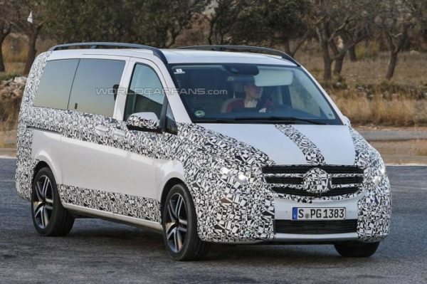 Upcoming 2015 Mercedes-Benz V Class Spied Yet Again