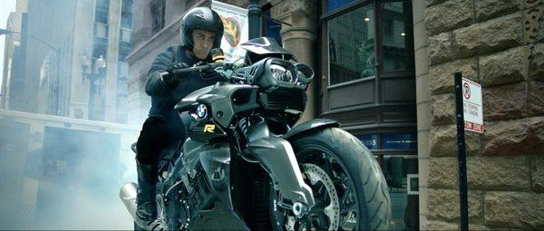 Aamir Khan on the BMW K 1300 R