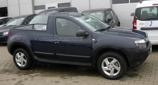 A Dacia Duster pick-up prototype was recently spotted in Romania