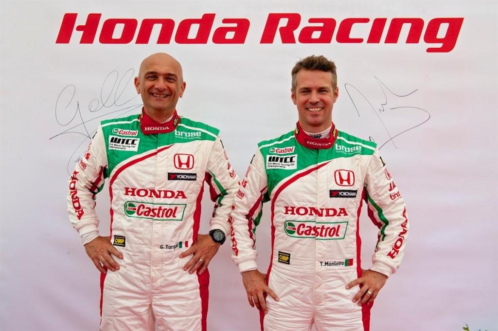 Gabriele Tarquini and Tiago Monteiro 2014 WTCC