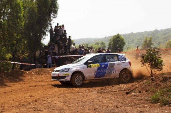 Karamjit Singh in the Volkswagen R2 Polo during the last round