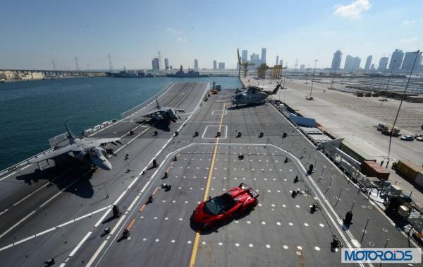 Lamborghini Veneno official World Premier Italian aircraft carrier (1)