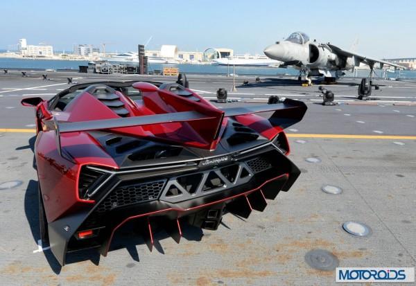 Lamborghini Veneno official World Premier Italian aircraft carrier