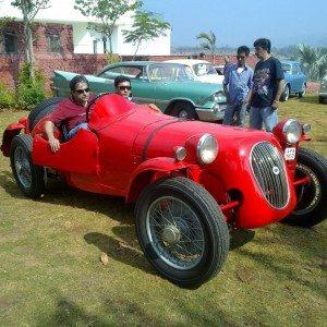 Lancia Racer Harit Vintage Car Rally Lavasa