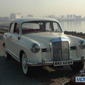 Merc 180a Dnyanesh Vintage Car Rally Lavasa