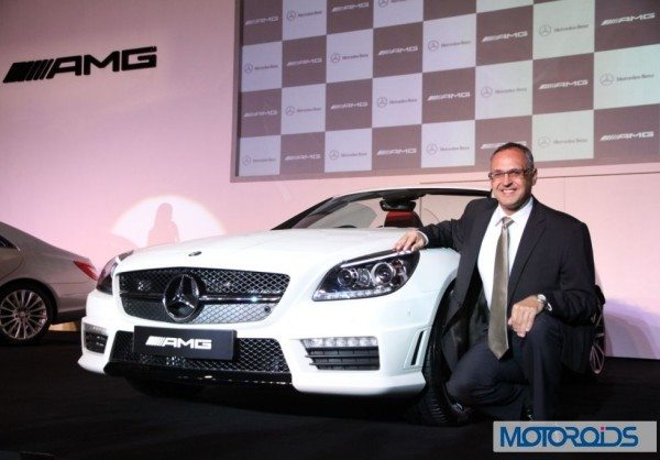Mr. Eberhard Kern_ Managing Director and CEO Mercedes-Benz India at the launchof SLK 55 AMG-4