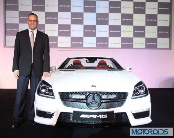 Mr. Eberhard Kern_ Managing Director and CEO Mercedes-Benz India at the launchof SLK 55 AMG