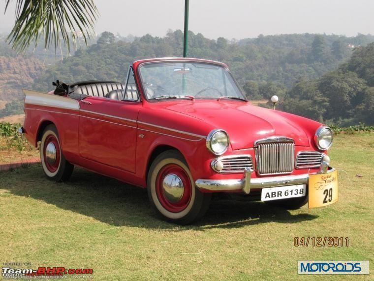 Sunbeam Rapier Harit Vintage Car Rally Lavasa Motoroids Com