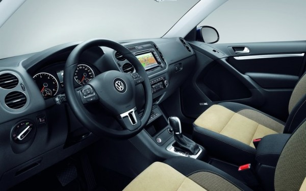 Typical of VW, the Tiguan gets clean and highly practical interiors