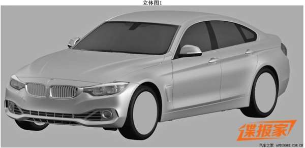 Upcoming BMW 4-Series Gran Coupe Patent Drawings Leaked