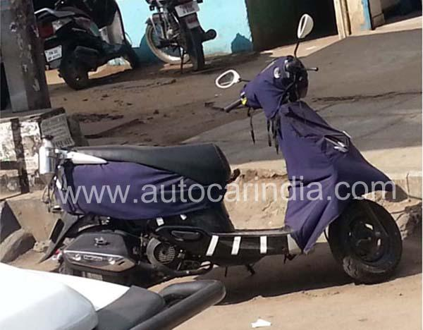 Next generation all new TVS Scooty spotted!