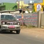 Upcoming 2014 Mahindra Scorpio facelift spotted again