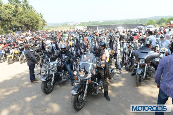 All set to roar H.O.G. members at the flag off of 2nd India H.O.G. Rally