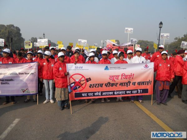 Children MArch at India Gate as par of Road Safety Week