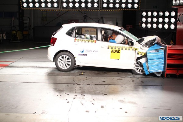 Global NCAP Crash tst Indian Cars Polo with airbags
