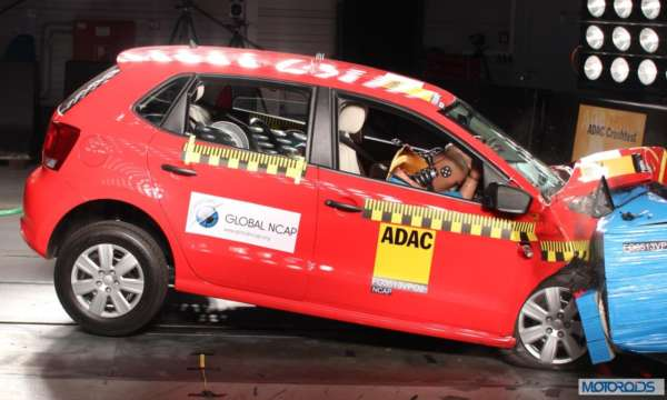 Global NCAP Crash tst Indian Cars VW_Polo_no_airbags_ZERO_STARS