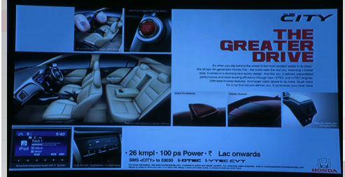 Honda City print ad
