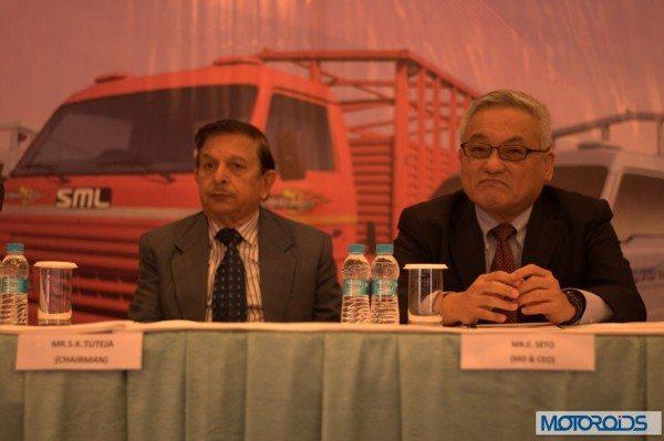 (L-R) S.K. Tuteja, Chairman, SML, ISUZU, Eiichi Seto, MD & CEO, SML ISUZU Ltd