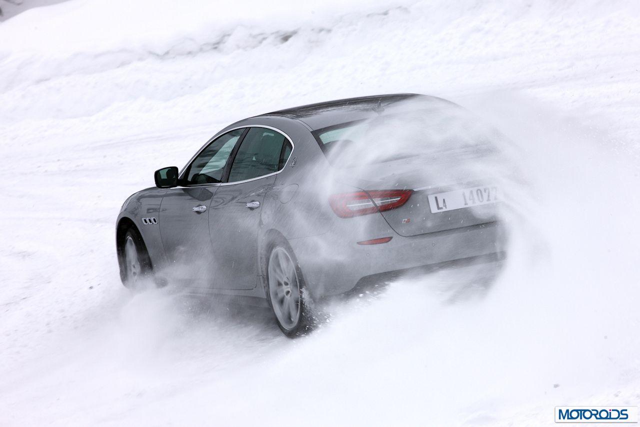 Maserati Quattroporte Q4 on snow (1)