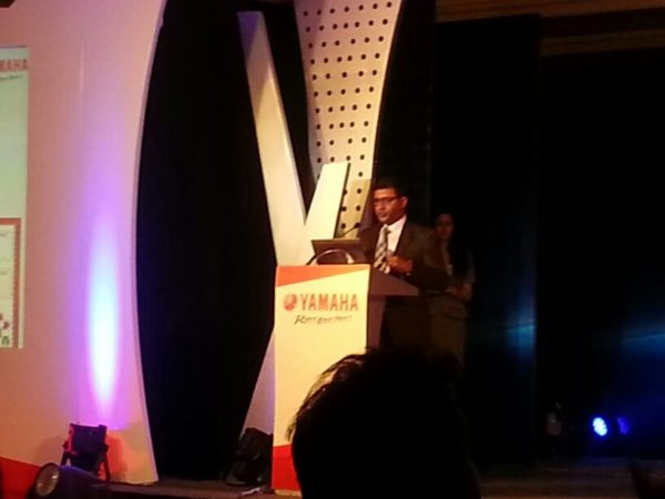 Mr Roy Kurian at the Yamaha launch event