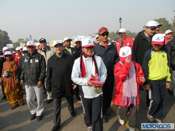 Mr Vijay Chibber(Red cap) along with Taj Hassan at India gate