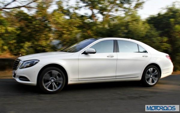 New 2014 Mercedes S Class S500 Action shots (5)
