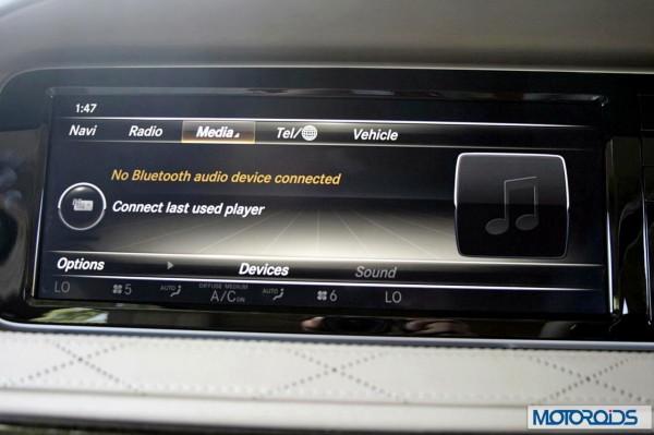 New 2014 Mercedes S Class S500 screen menus (3)