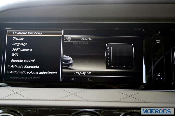 New 2014 Mercedes S Class S500 screen menus (36)
