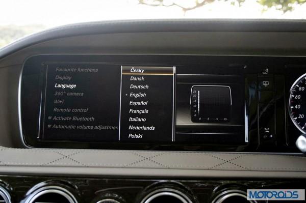 New 2014 Mercedes S Class S500 screen menus (38)