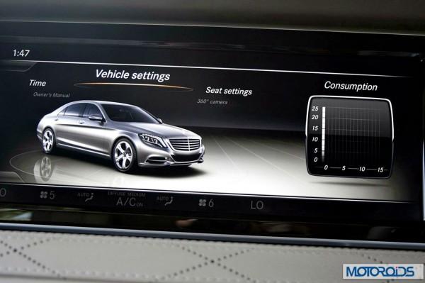 New 2014 Mercedes S Class S500 screen menus (5)
