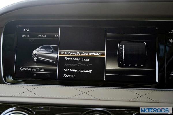 New 2014 Mercedes S Class S500 screen menus