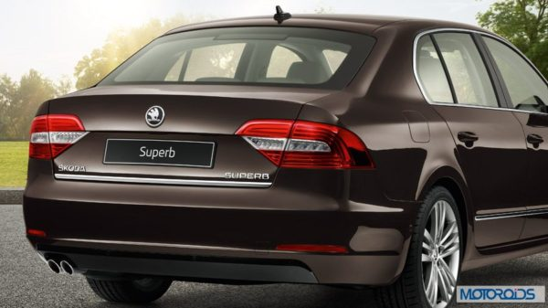 New skoda Superb India exterior