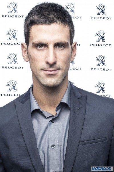 Novak Djokovic Peugeot brand ambassador