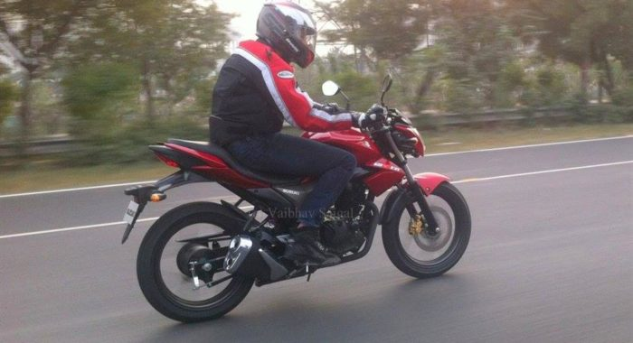 New Suzuki GIXER 150cc naked bike spotted; Auto Expo 2014 debut likely