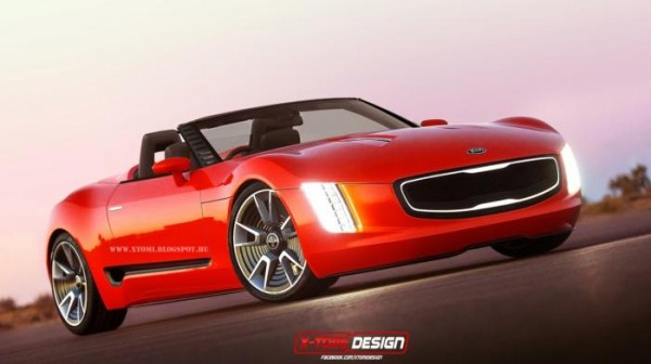 Is this how the Kia GT4 Stinger convertible would look like?