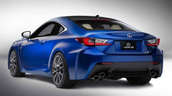Lexus RC-F rear profile