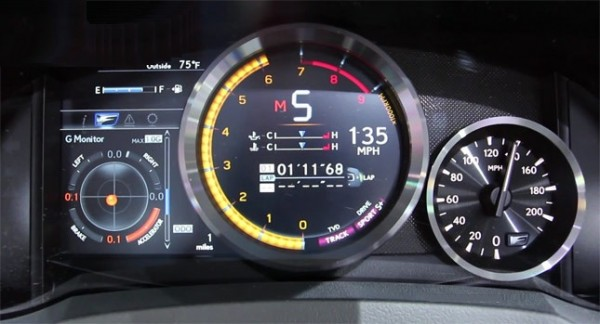Check out the Lexus RC F instrument panel in this video