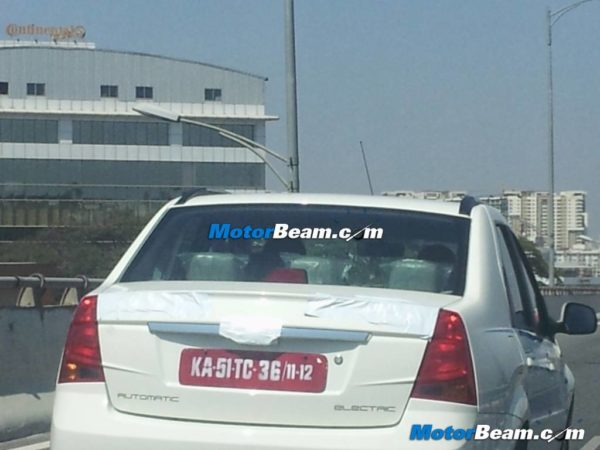 Mahindra Verito Electric launch likely to happen at Auto Expo 2014; Spotted