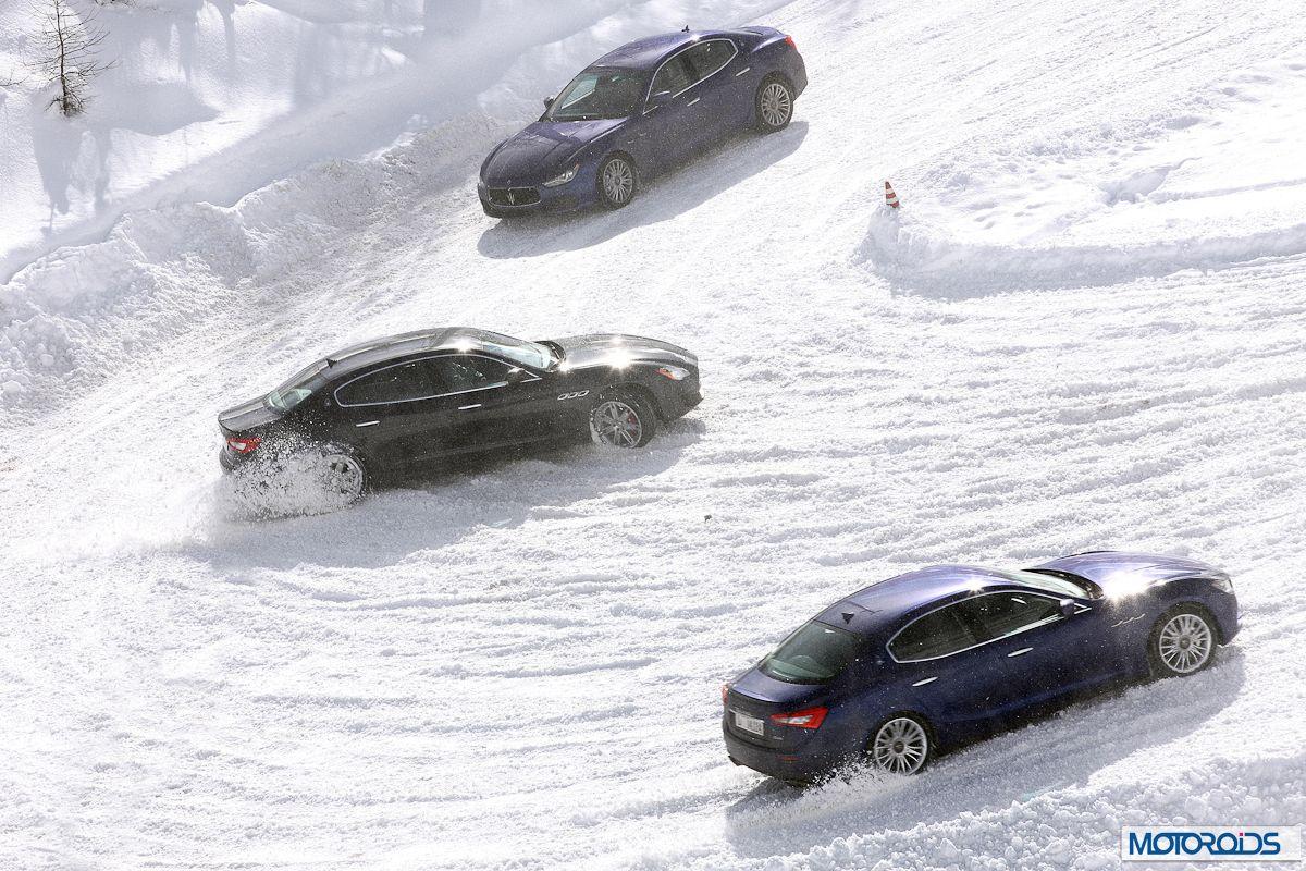 maserati Ghibli Q4 on snow
