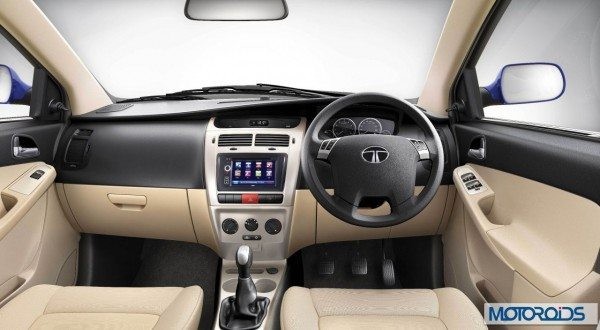 tata Vista VX tech interior