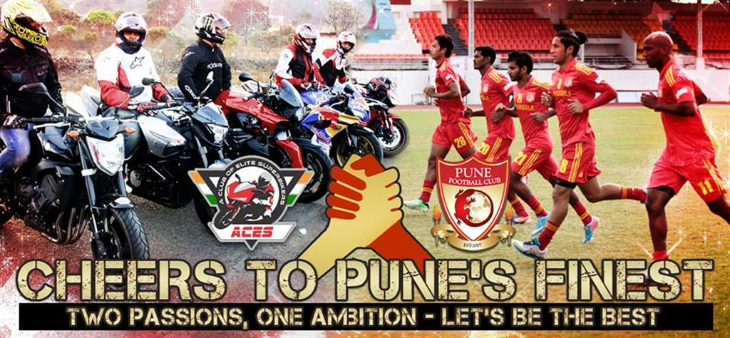 ACES Superbiker Club and Pune Football Club