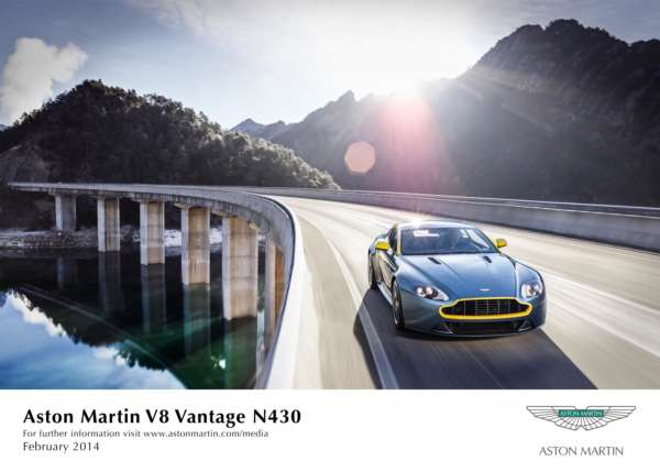Geneva debut for Aston Martin V8 Vantage N430 and Aston Martin DB9 Carbon Black & Carbon White