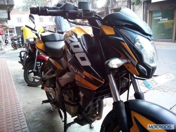 Bajaj Pulsar 200NS in KTM colours