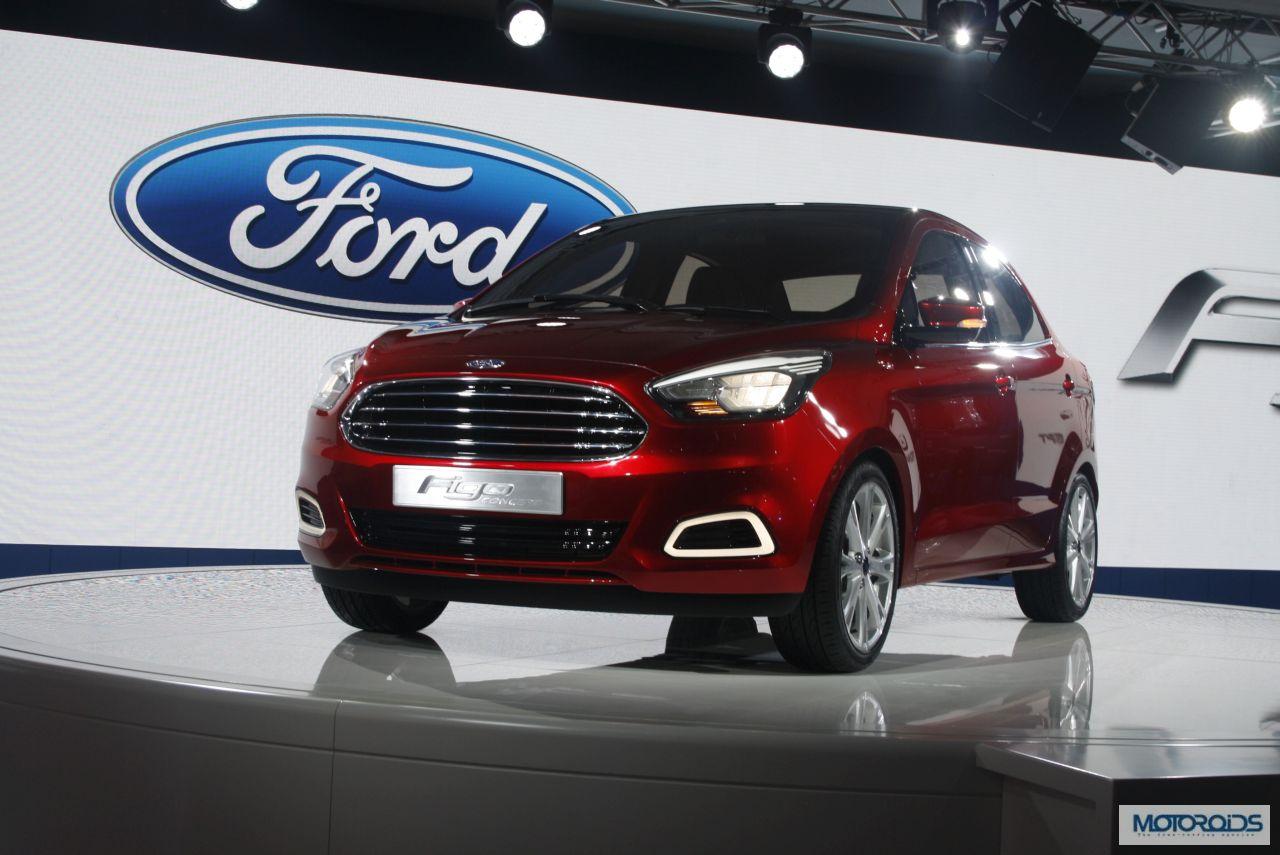 2014 Auto Expo Ford Showcases The Figo Concept Sedan