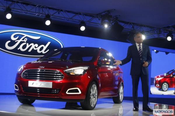 Ford Figo Concept Compact Sedan Auto Expo 2014 (40)