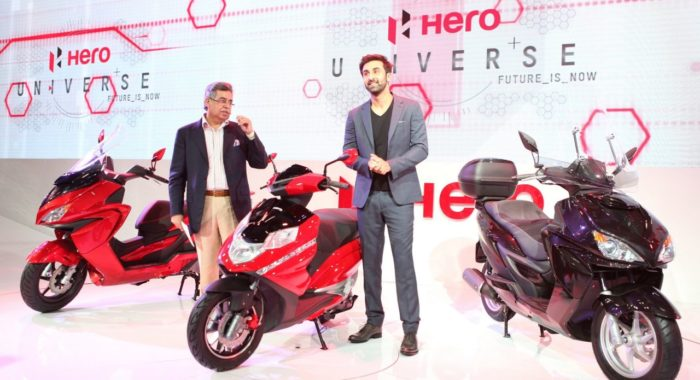 Hero Motocorp Unveils 150cc ZIR and 125cc Dare Scooters at Auto Expo 2014: official release and images