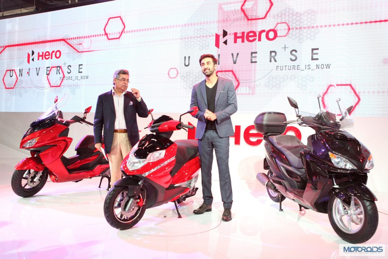 Hero Motocorp Unveils 150cc ZIR and 125cc Dare Scooters at ...