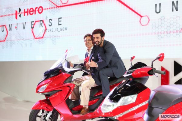Hero ZIR and dare scooters auto expo 2014